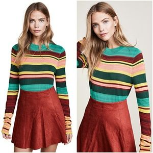 Free People | Retro Stripe Knit Crew Sweater
